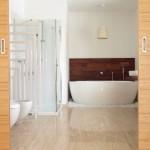 En suite bathroom with free standing bath
